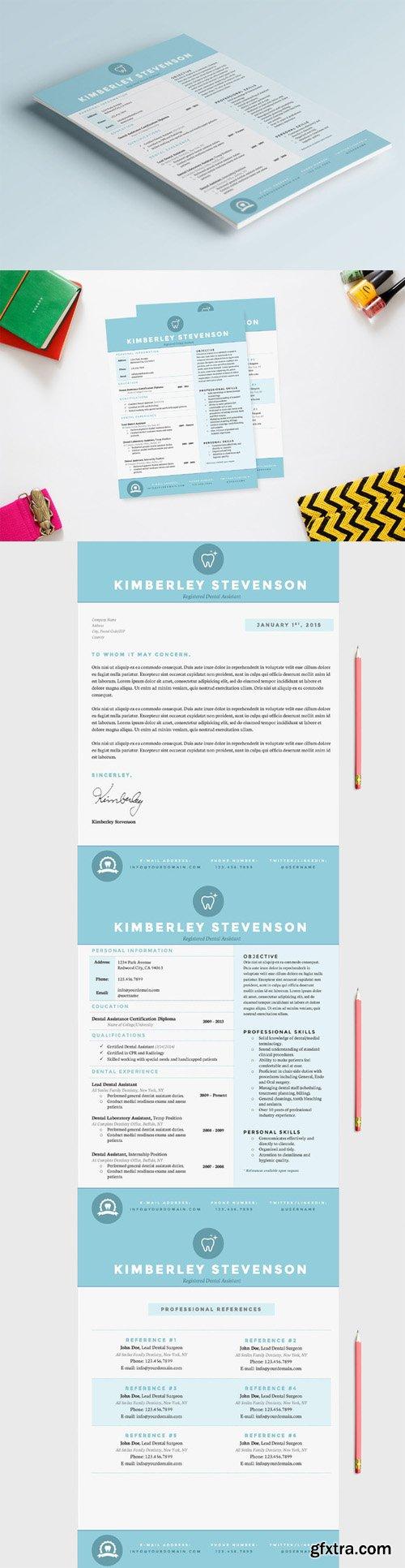 CM - Blue Dental CV, Resume & References 130329