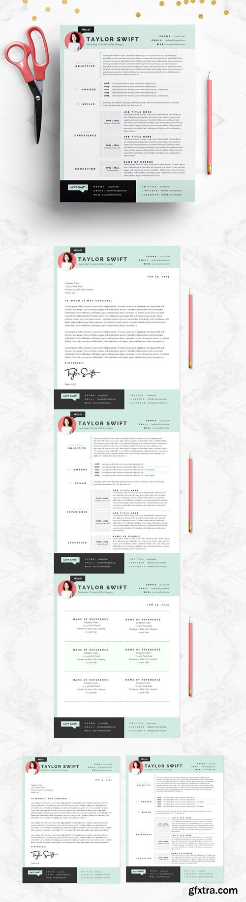 CM - Mint Resume & Cover Letter Template 138510