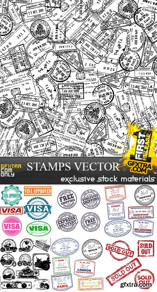 Stamps Vector Collection, 25xEPS