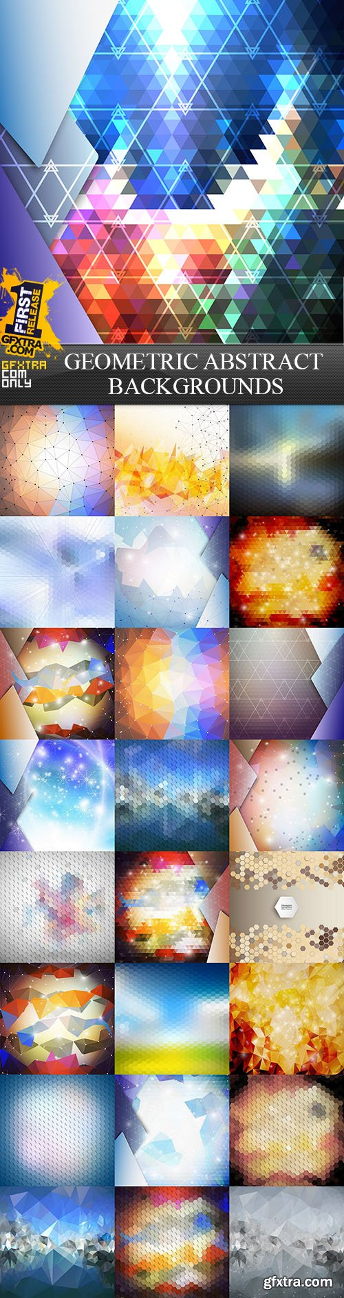 Geometric Abstract Backgrounds, 25xEPS