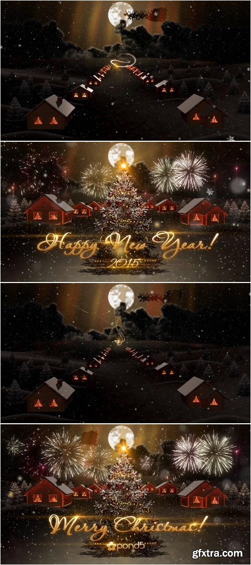 Pond5 - Night Christmas After Effects Project
