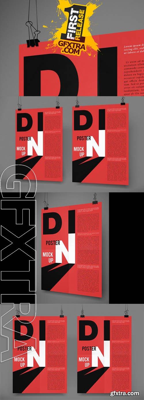 DIN Poster Mockups N°1 for Photoshop - CM 139536