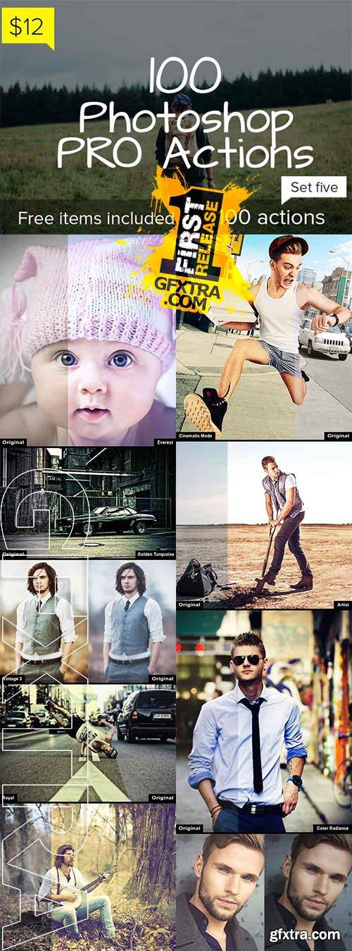 100 Photoshop Pro Actions - Set 5 - CM 138783