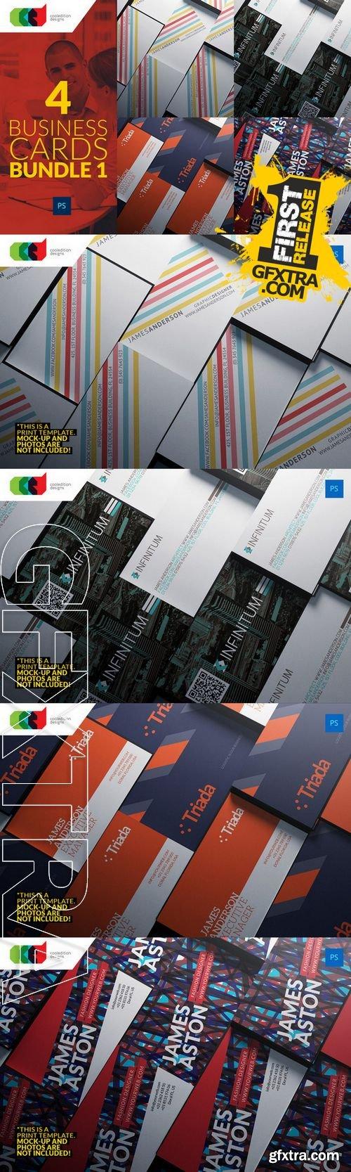 4 Business Cards Bundle 1 - CM 138509