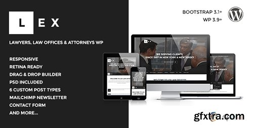 ThemeForest - LEX v1.3 - Law Offices, Lawyers & Attorneys WP