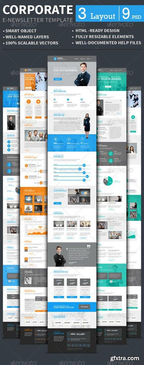 GraphicRiver - Corporate E-newsletter Template