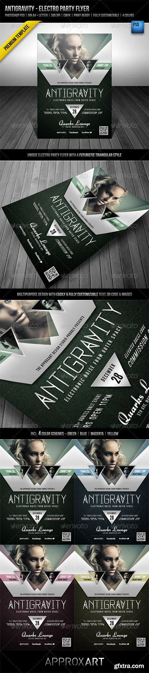 GraphicRiver: Antigravity - Electro Party Flyer