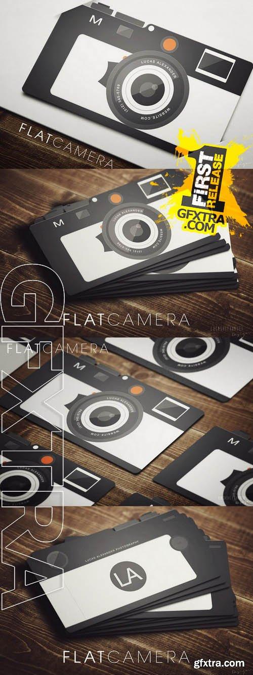 Flat Camera Business Card - CM 46034