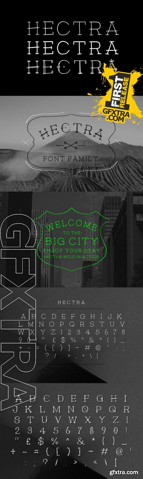 Hectra Font Family - CM 135694