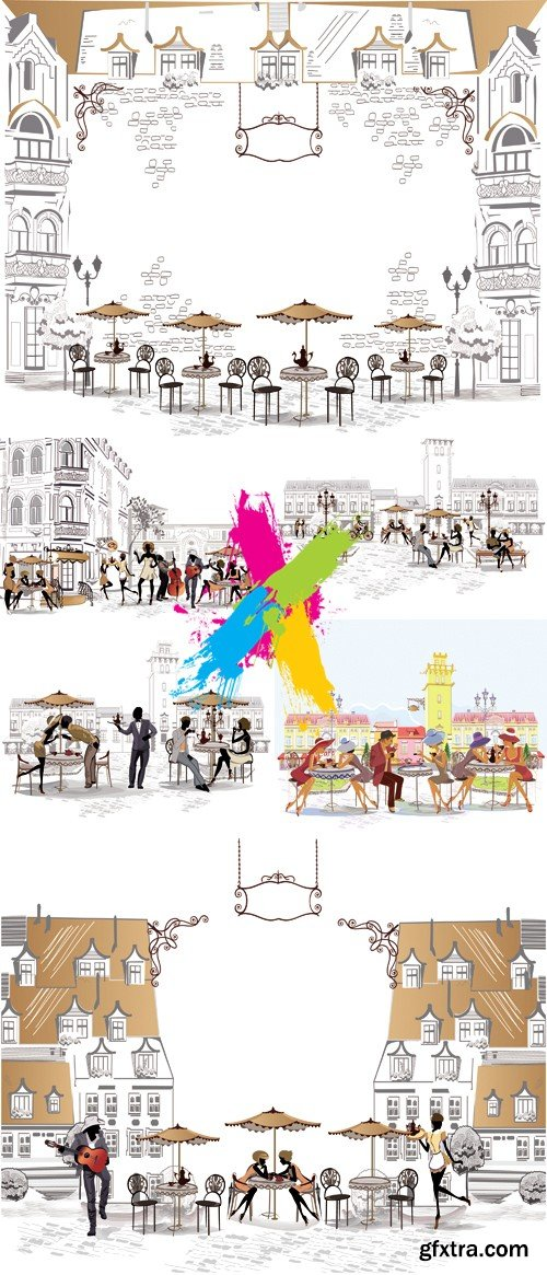 Old City Streets Vector