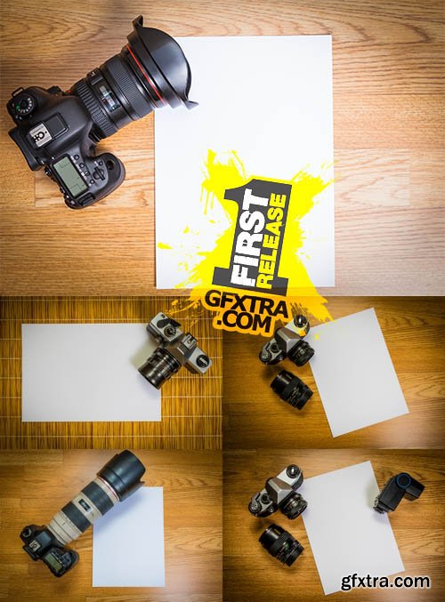 Stock Photos - Camera with Blank Photo Paper