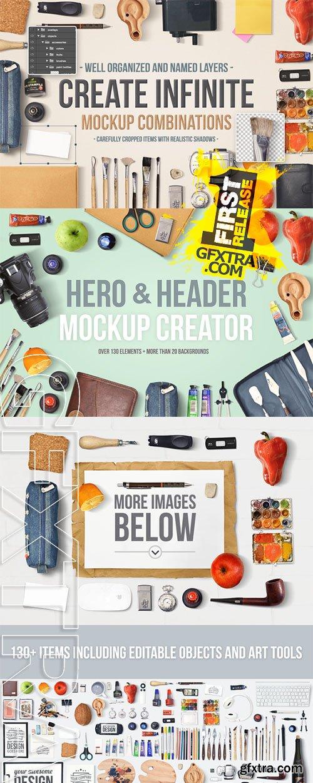 Hero & Header Mockup Creator - CM 143077