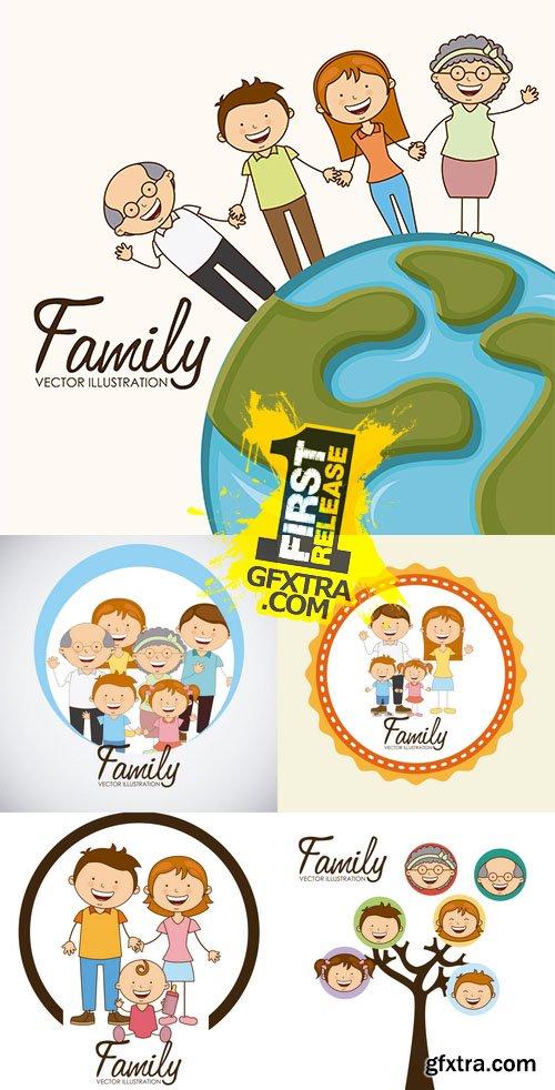 Vector - Happy Family