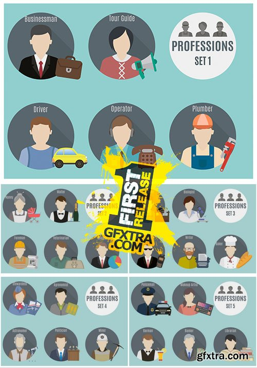 Vector - Profession People Icons 1