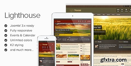 ThemeForest - Lighthouse v1.1.4 - Responsive Joomla 2.5 & 3.1x Template