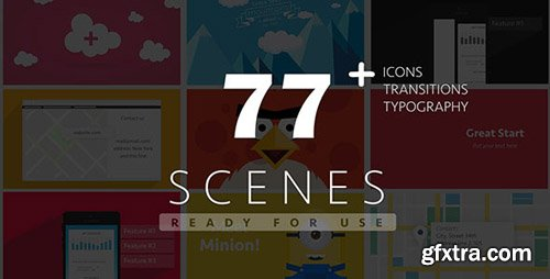 Videohive - 77 Ready For Use Scenes 9246484