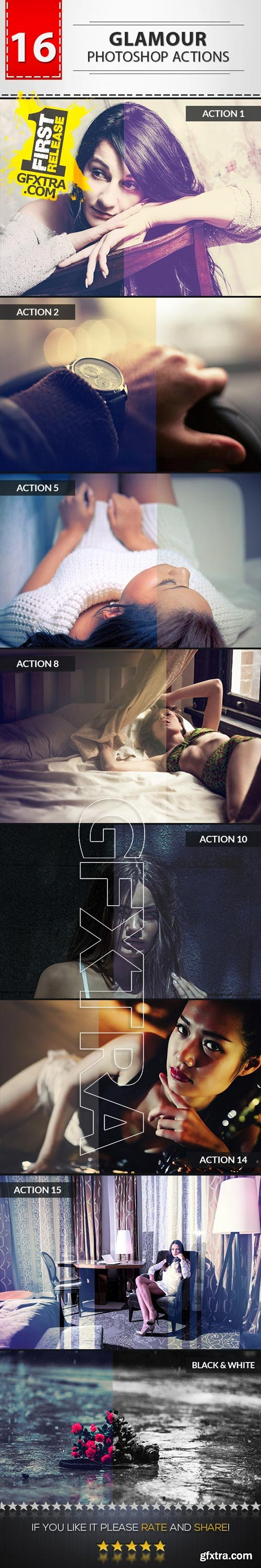 GraphicRiver - 16 Glamour Photoshop Actions 9719399