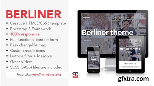 Mojo-Themes - BERLINER - Bootstrap HTML5 Template - RIP