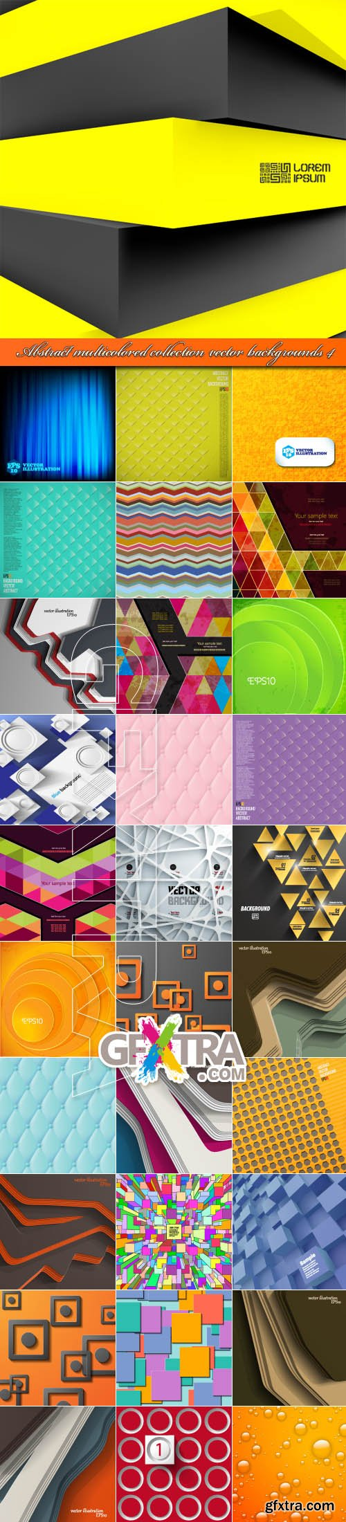 Abstract multicolored collection vector backgrounds 4