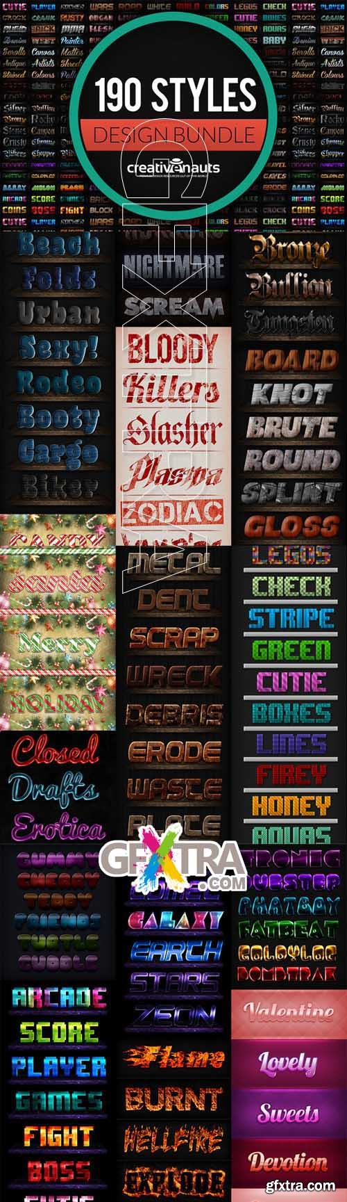 190 Text Effects for Photoshop