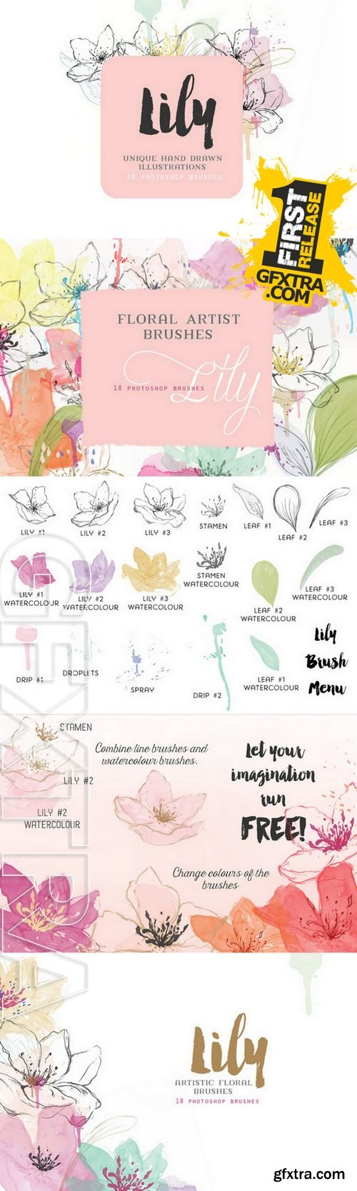 Floral Photoshop Brushes - CM 143874