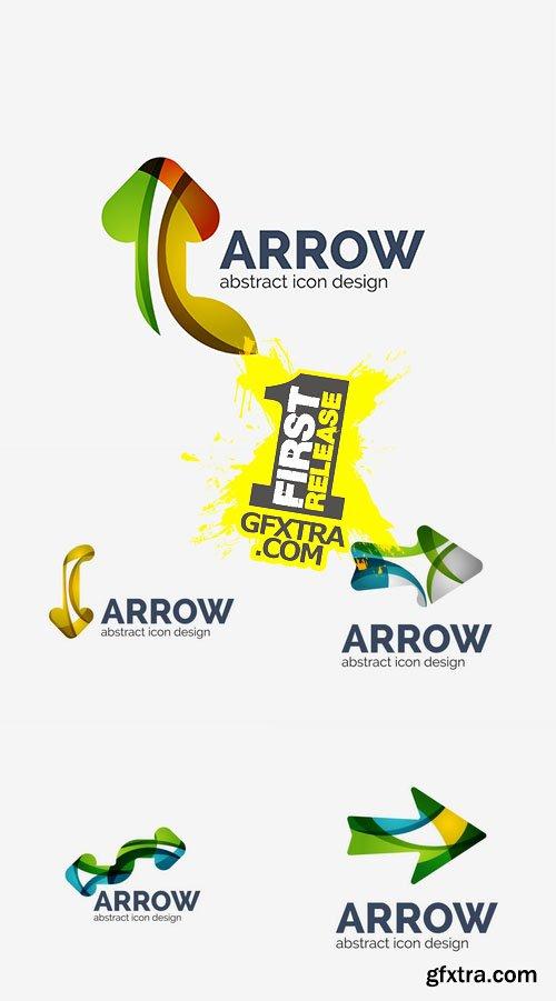 Vector - Clean Moden Wave Design Arrow Logo