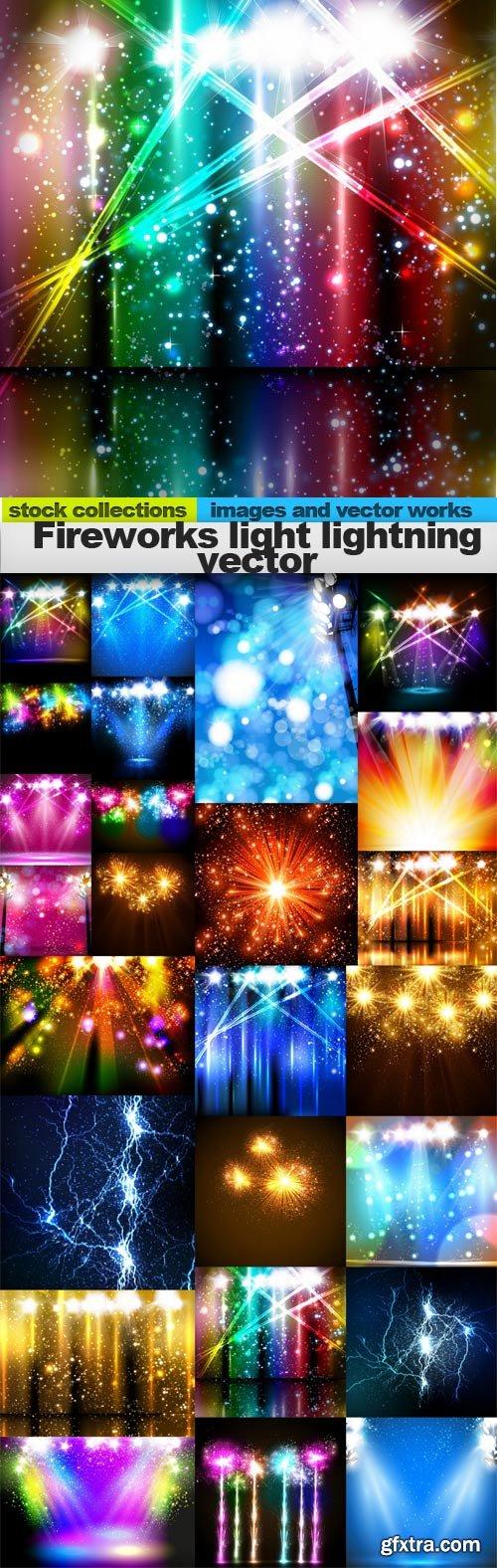 Fireworks light lightning,25 x EPS