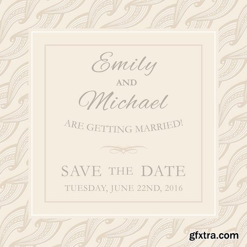 Collection of different wedding invitation cards 25 Eps