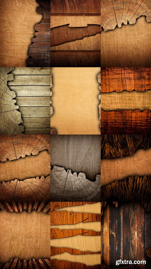 Cracked Wood Board Textures 15xJPG