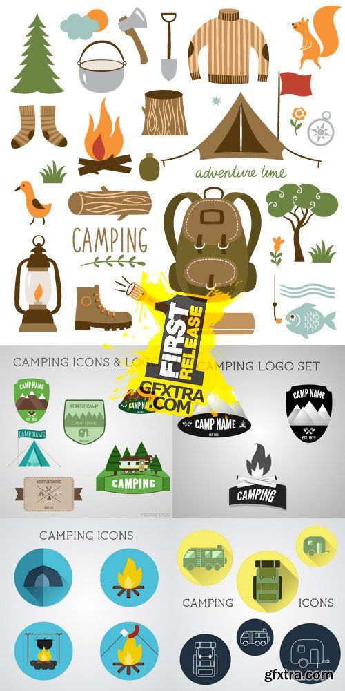 Vector - Camping & Outdoor Adventure Icons & Logos