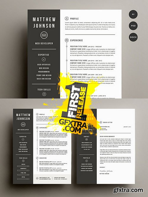 Resume & Cover Letter Template - CM 141501