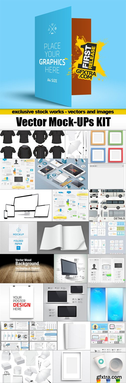 Vector Mock-UPs Kit - 25x EPS