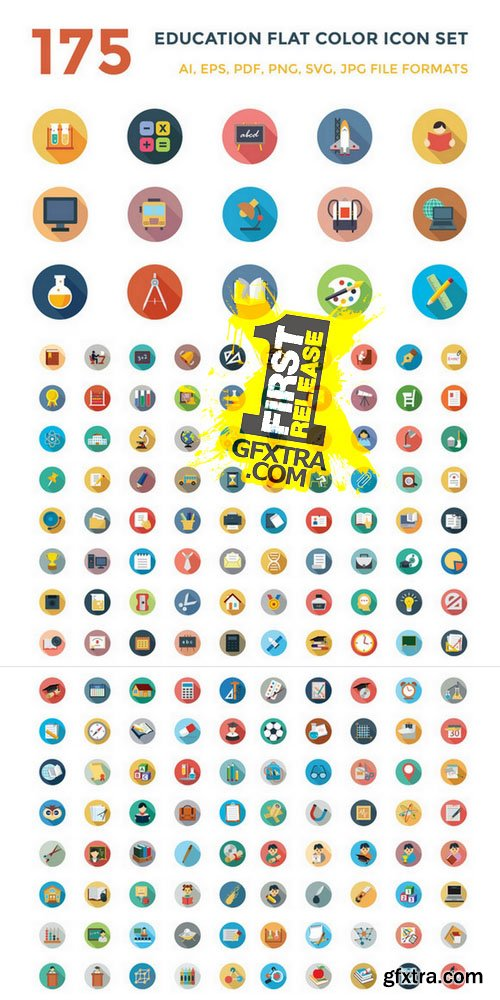 175 Education Vector Icons - CM 123323
