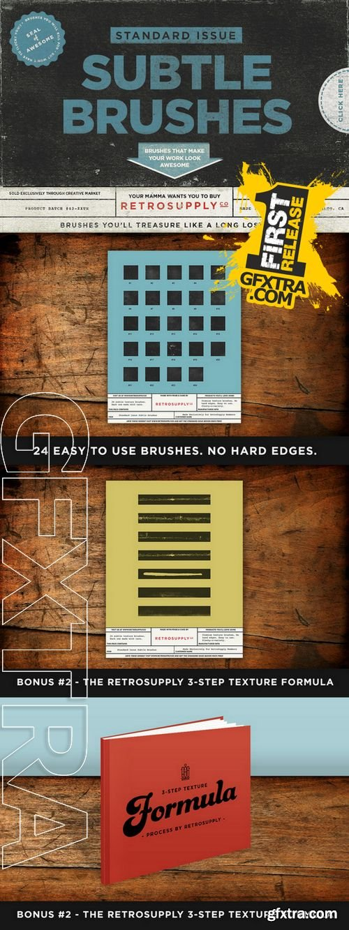 Standard Issue Texture Brushes - CM 63793
