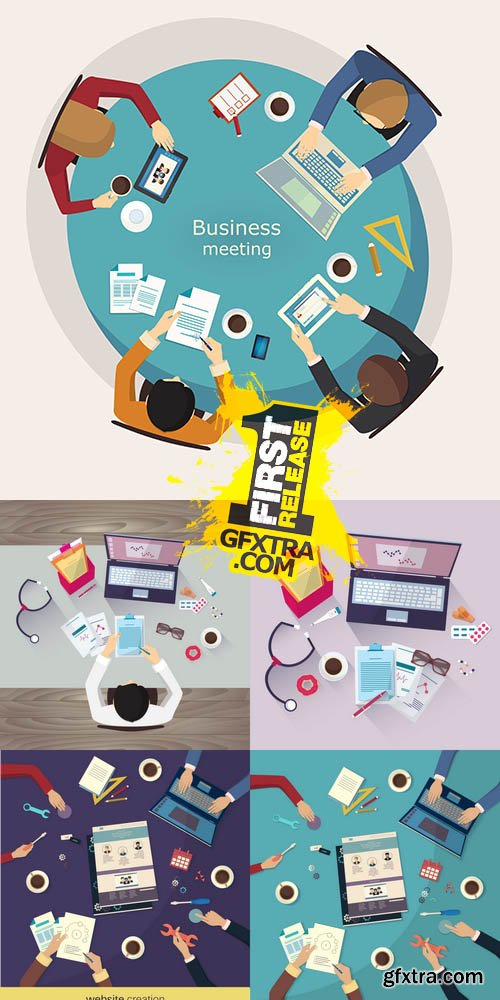 Vector - Flat Business Workplace