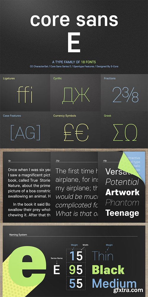 Core Sans E Font Family - 18 Font $522
