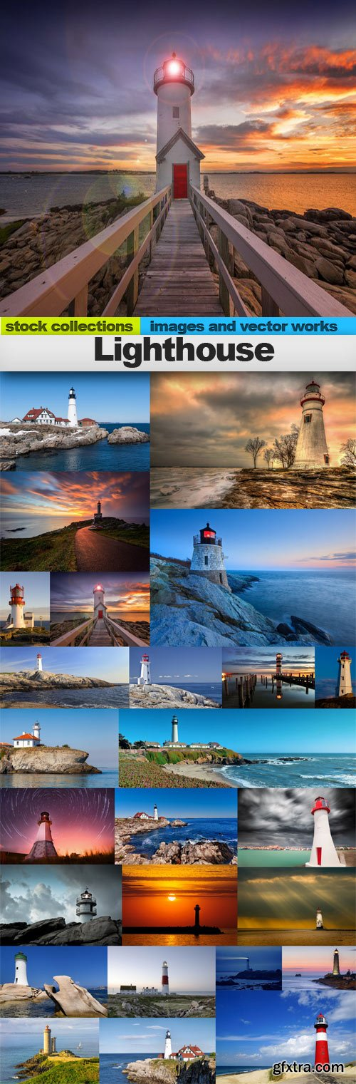 Lighthouse,25 x UHQ JPEG
