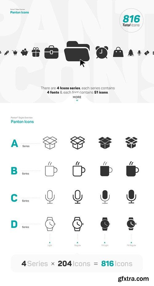Panton Font Family - 34 Fonts