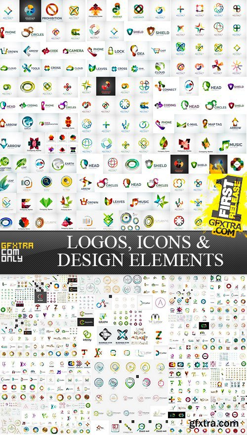Logos, Icons & Design Elements - MEGA Vector Collection, 25xEPS