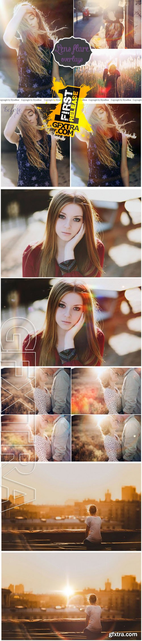 30 Lens Flare Overlays JPEG and PNG - CM 153609