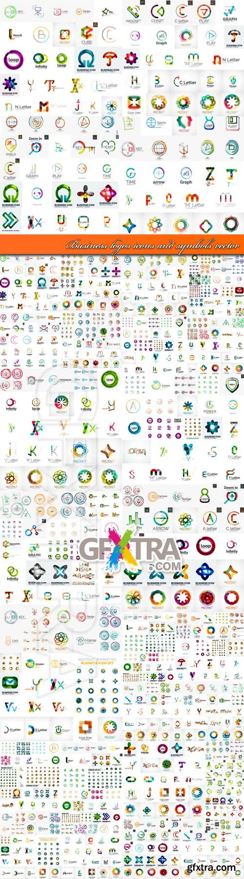 Business logos icons and symbols vector