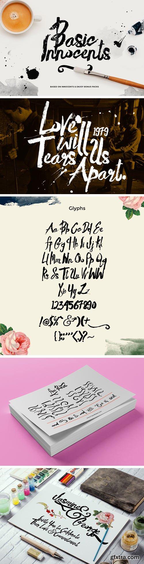 Basik Rough Typeface + Bonus