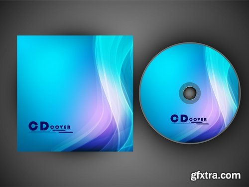 Collection of vector design elements picture CDs 25 Eps