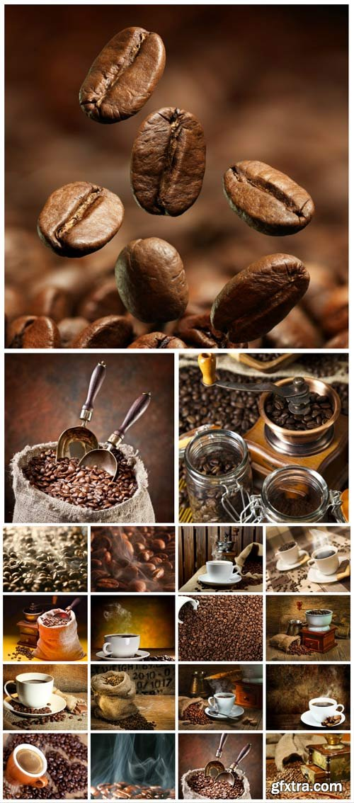 Coffee, Coffee Beans & a Cup of Coffee 20xJPG