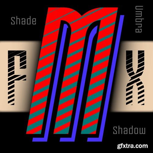 Moho FX Shadow Pro Font Family - 8 Fonts $360
