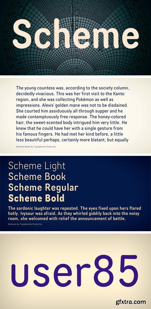 Scheme Font Family - 4 Fonts $108
