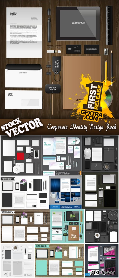 Stock Vector - Corporate Identity Design Pack, 25EPS