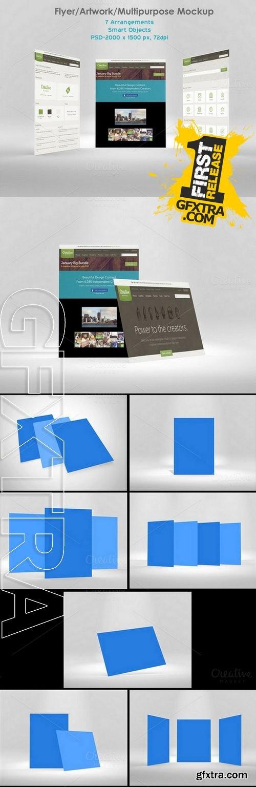 Flyer/ Artwork/ Multipurpose Mockup - CM 155292