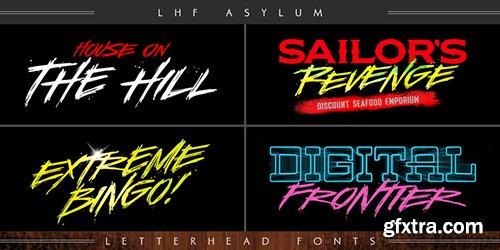 LHF Asylum Font - Font $53