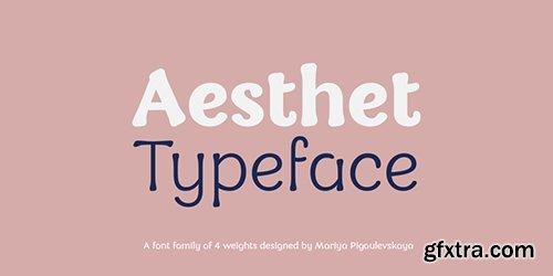 Aesthet Font Family - 4 Fonts $128